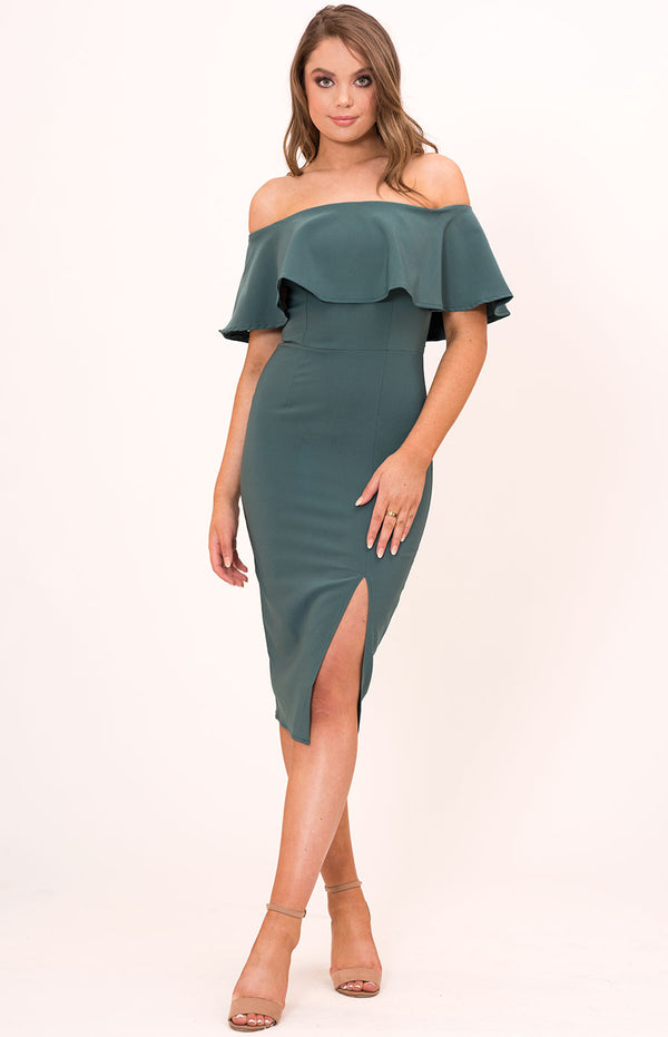 Chelsea Midi Dress In Teal