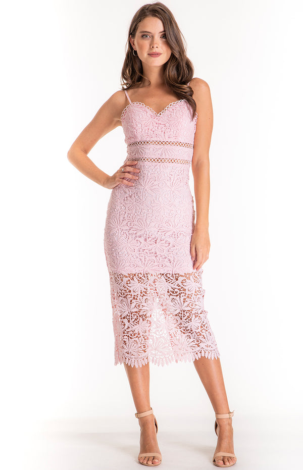 Olivia lace Dress - Blush