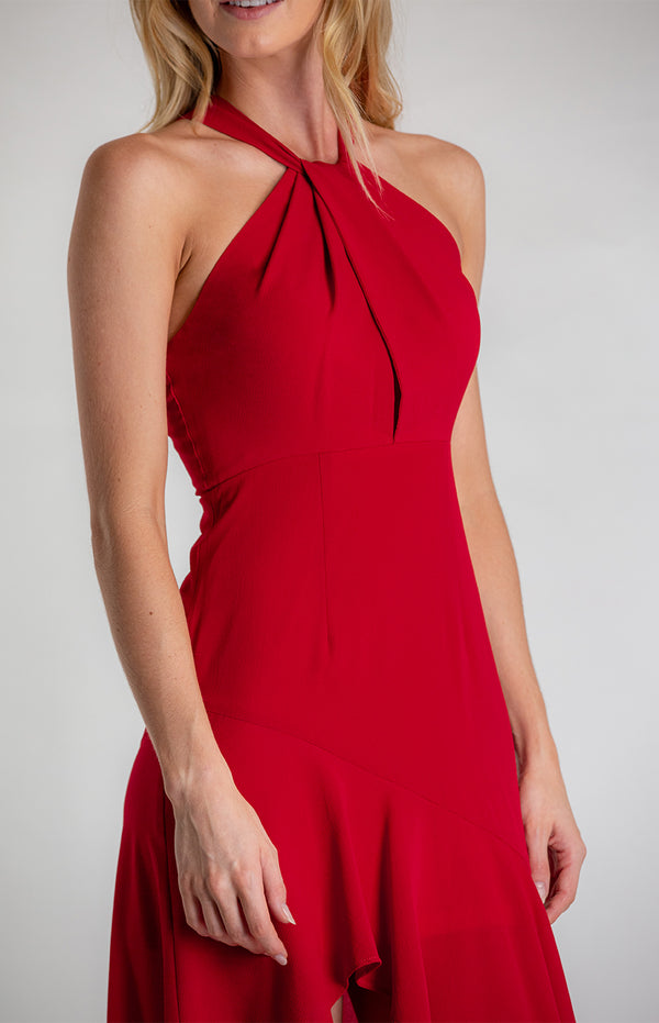 Love To The Moon Dress - Red
