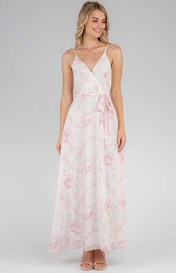 Angelina Maxi Dress- Blush Floral Print