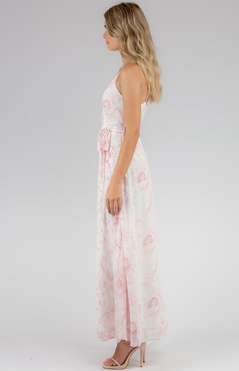 Angelina Maxi Dress- Blush Floral