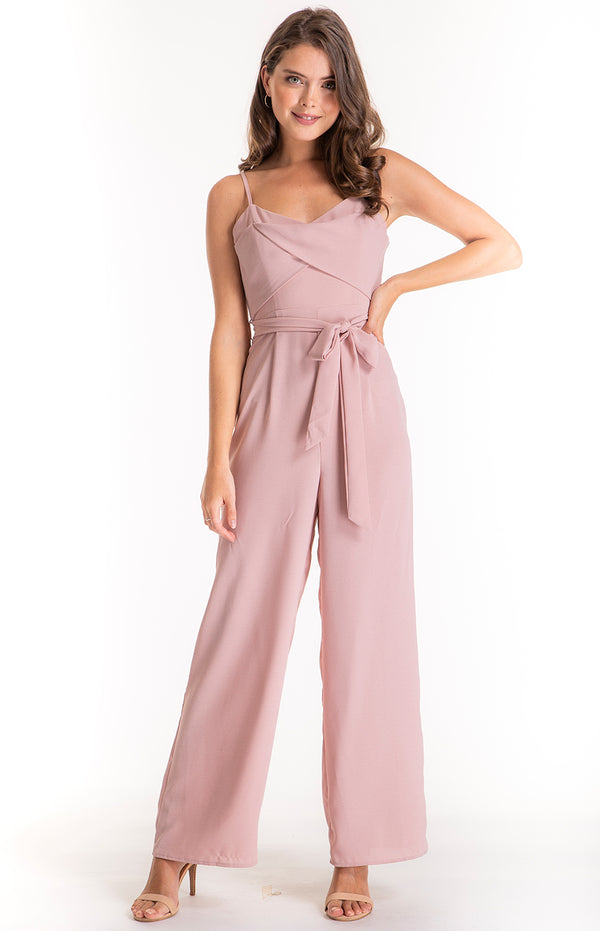 Jennie Jumpsuit In Blush