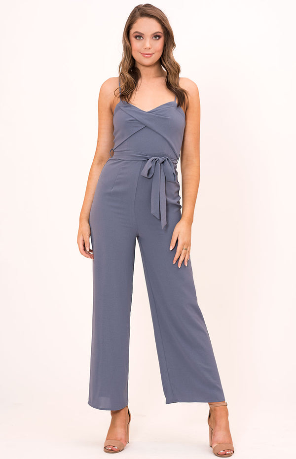Jennie Jumpsuit In Greyblue