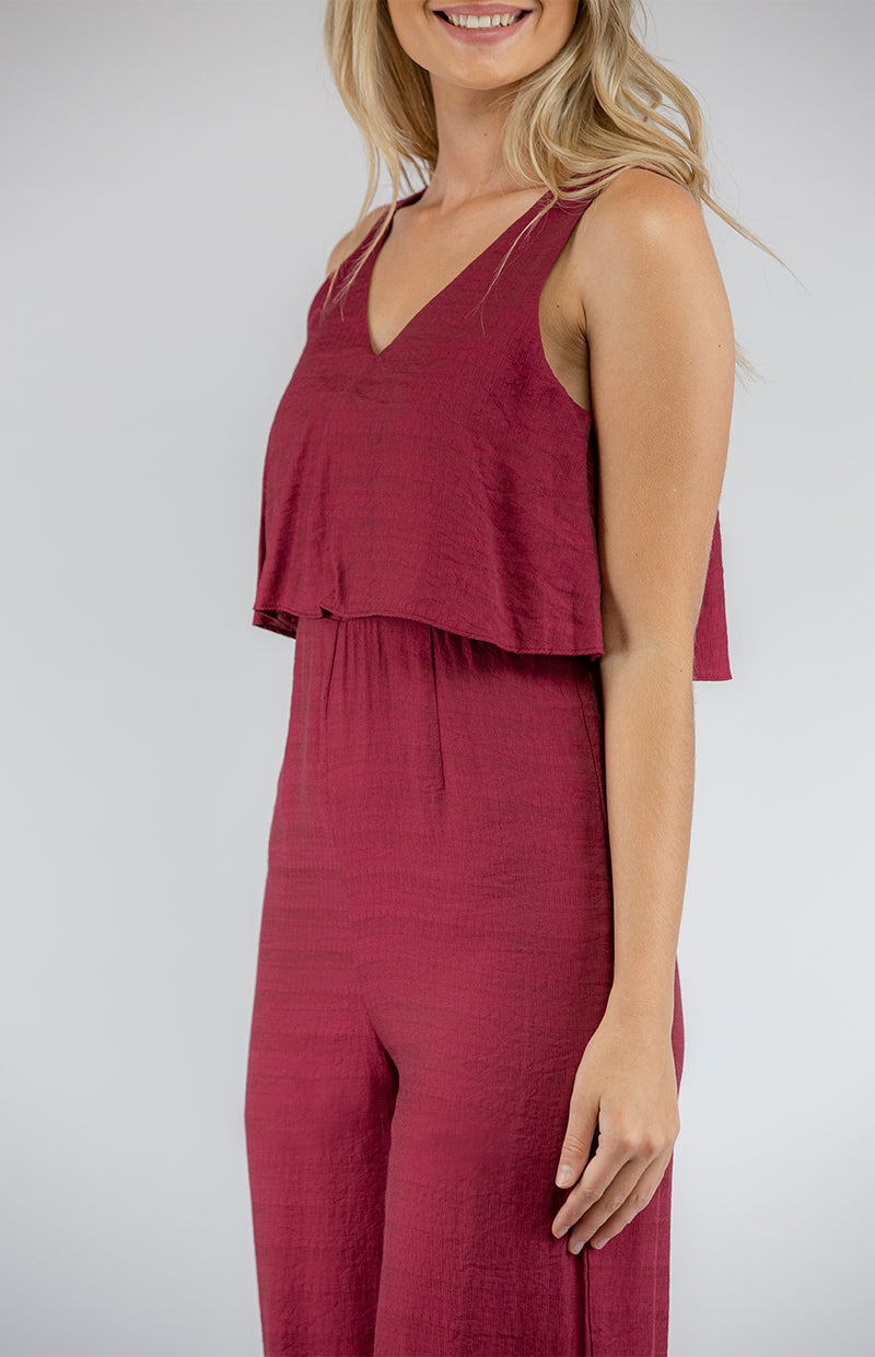 Charlie Jumpsuit In Wine