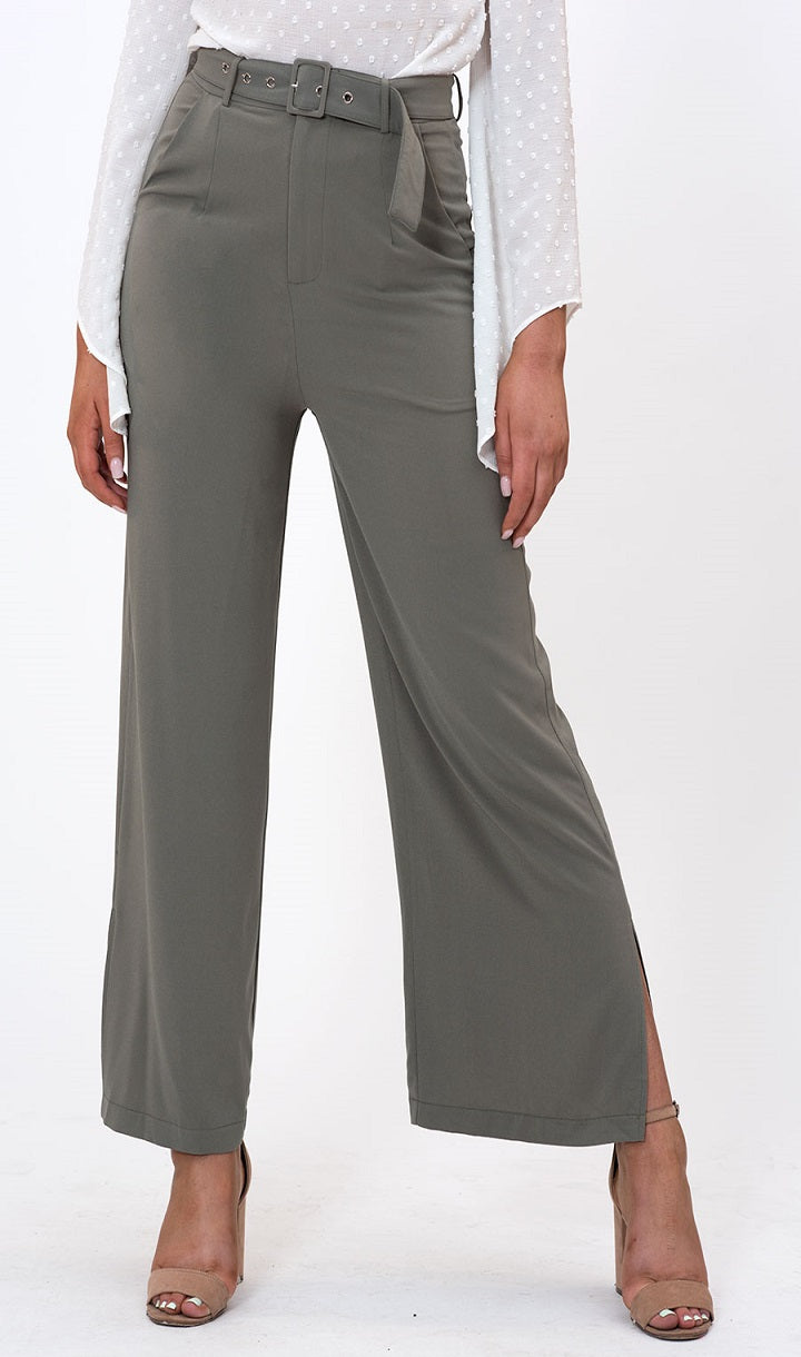 The Iconic High Waisted Pant in Mint