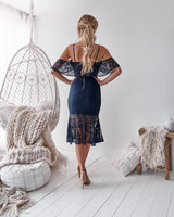 Babylon Dress in Navy