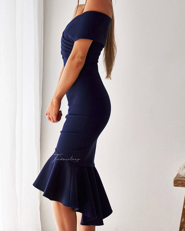Brienne Dress In Navy