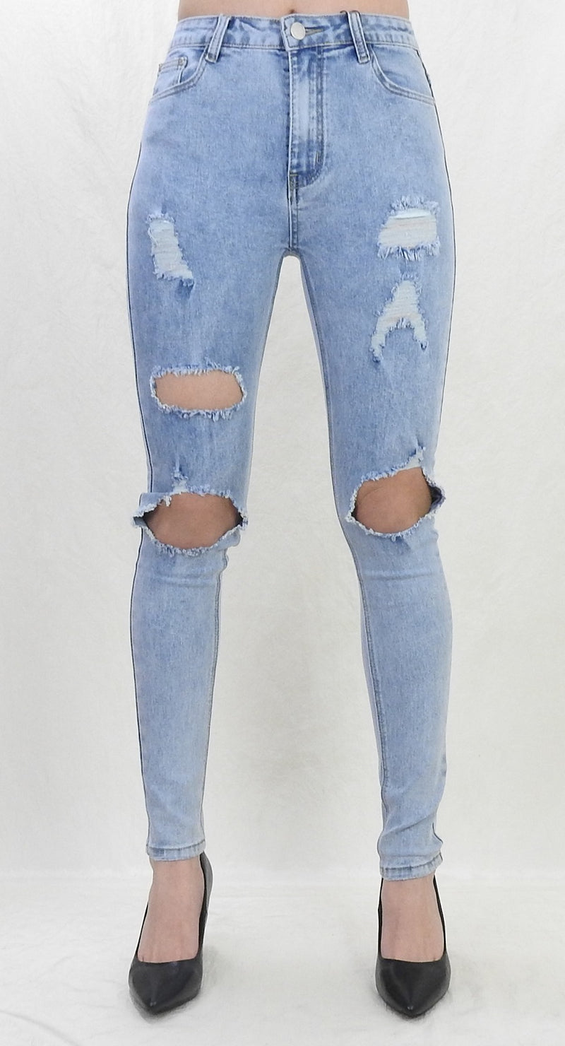 Kelly High Rise Jeans  - Light Blue
