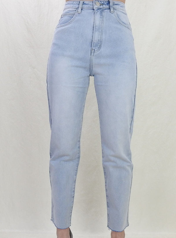 Elsa Straight Jeans - Light Blue
