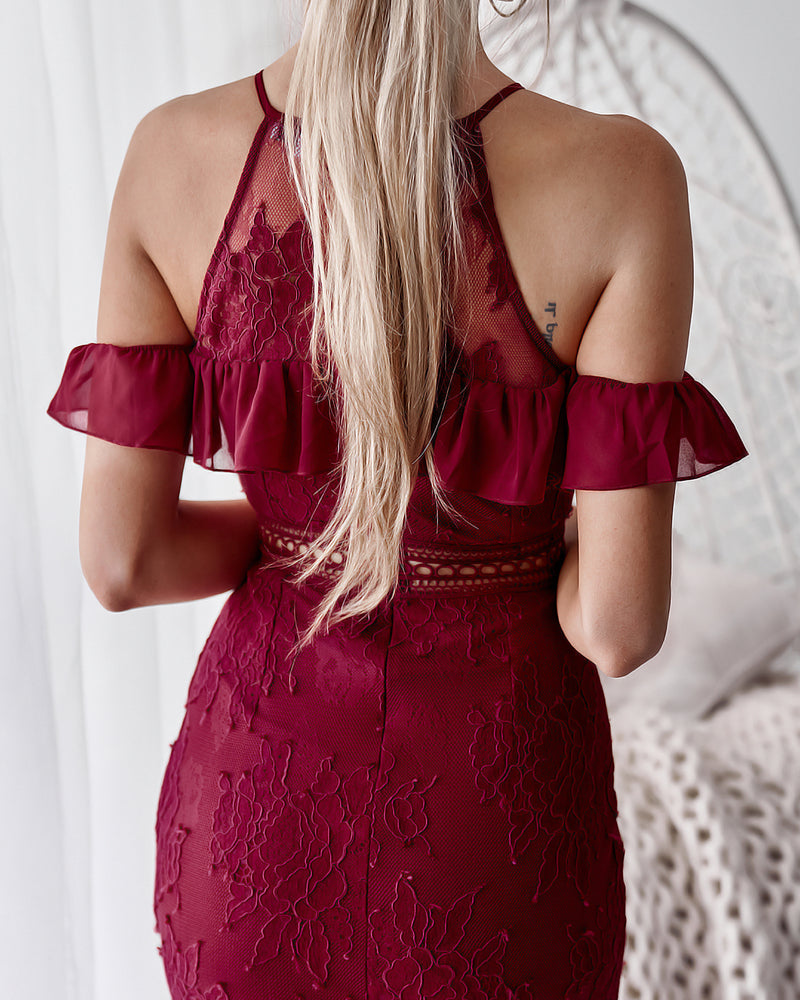 Connie Dress in Wine