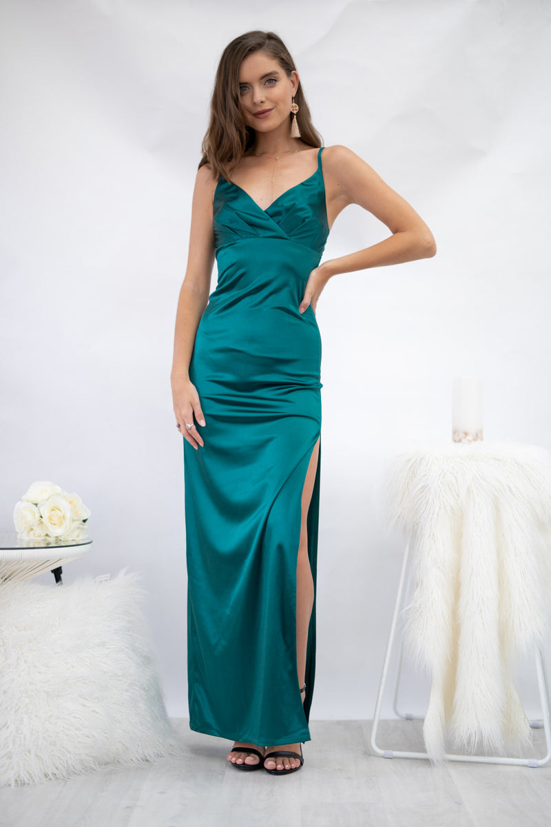 Galaxy Dress in Emerald Green