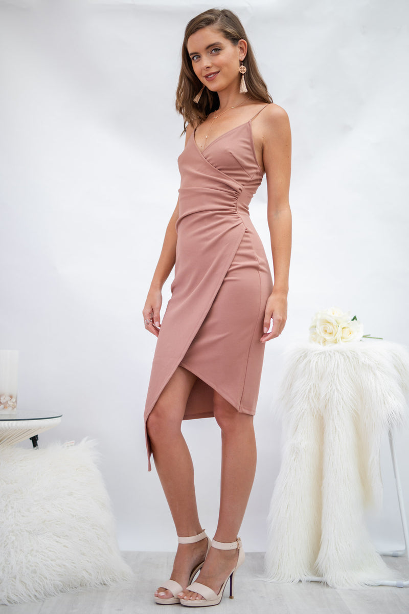 Glamour Day Dress in Dusty Pink