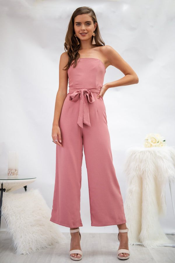 Ivy Jumpsuit in Dusty Pink