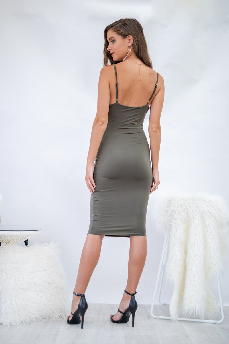 Breaking Dawn Dress in Khaki