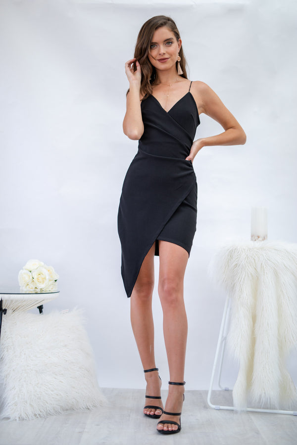 Glamour Day Mini Dress in Black