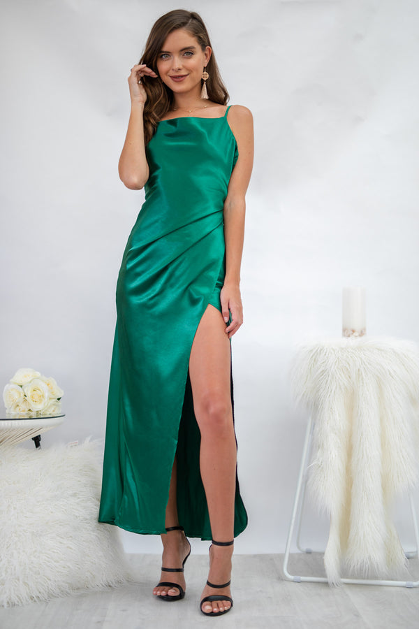 Snowflake Dress in Forest Green