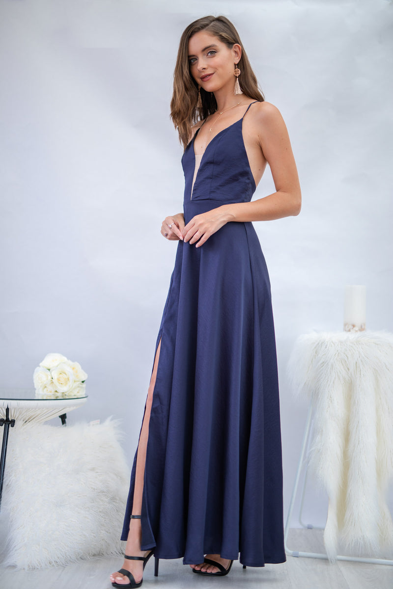 Blooming Day Dress in Navy