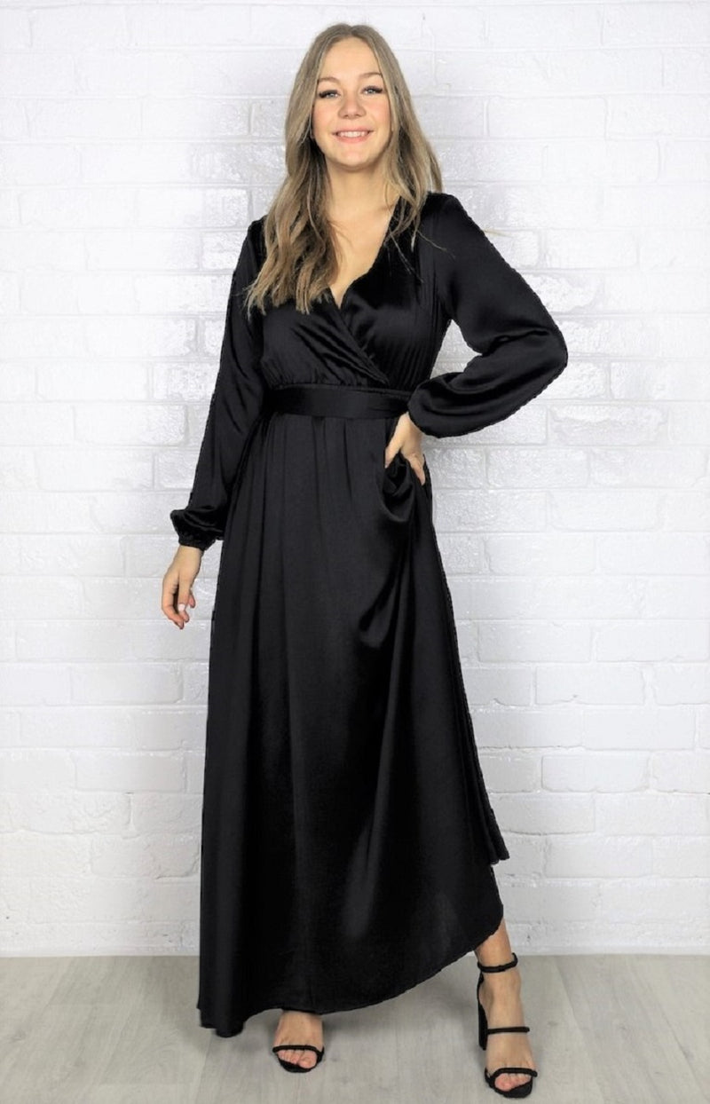 Lorisa Maxi Dress- Black