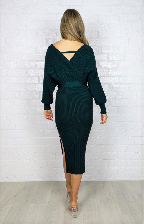 Samba Knit Dress - Emerald