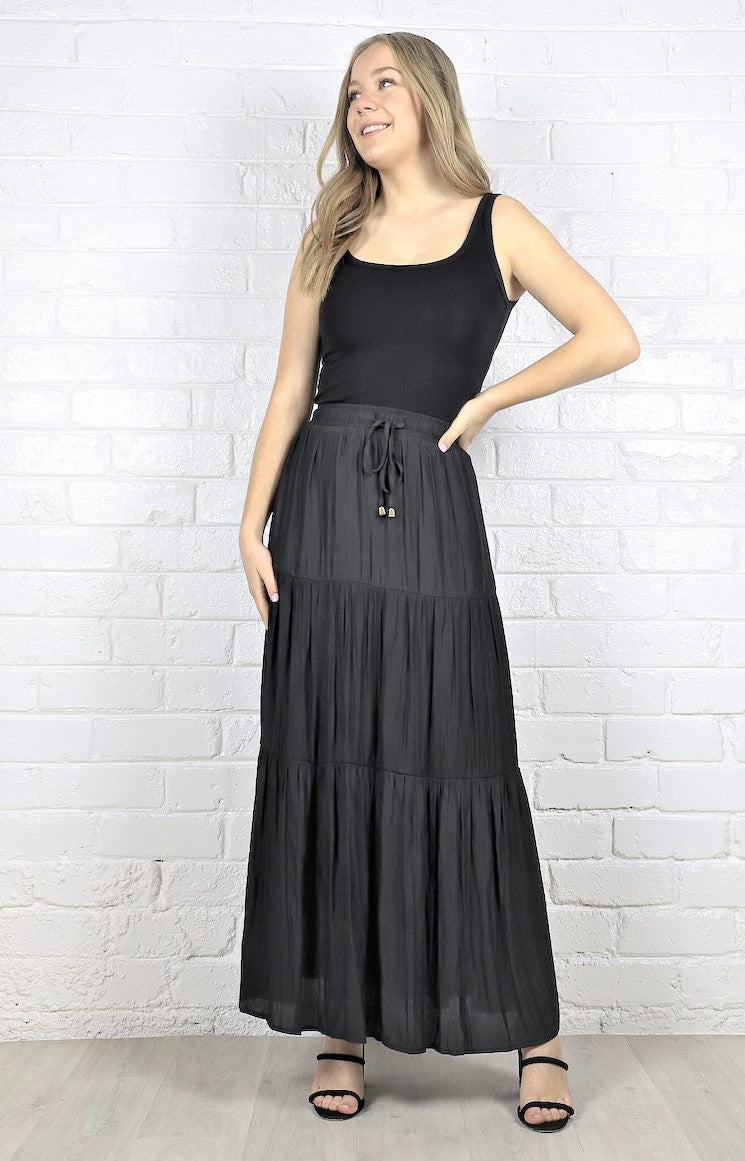 Halene Maxi Skirt - Black