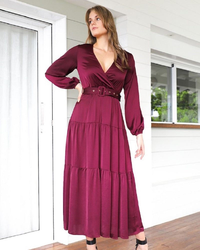Hype Maxi Dress  - Plum