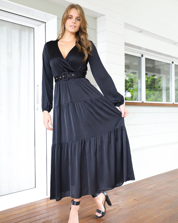 Hype Maxi Dress  -Black
