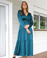Hype Maxi Dress  -Teal