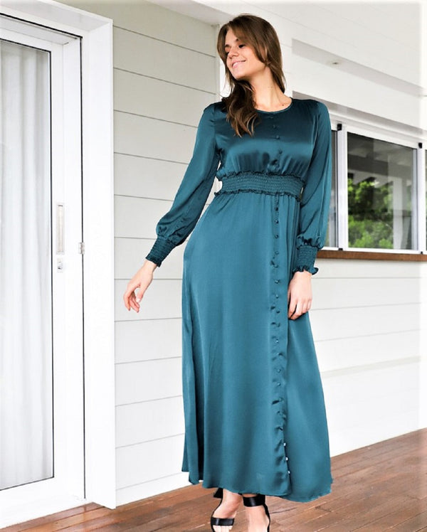 Destiny  Maxi  Dress - Teal