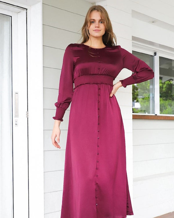 Destiny  Maxi  Dress - Plum
