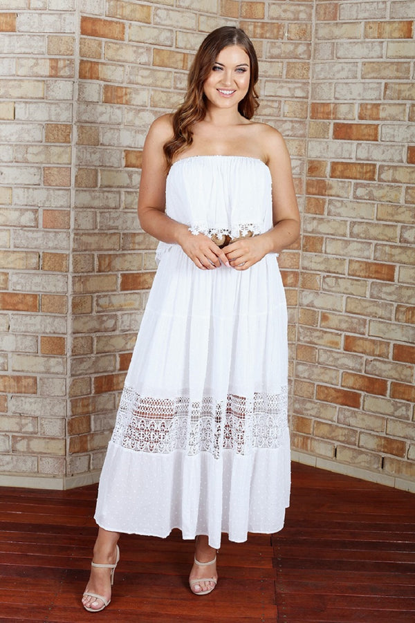 Casey Maxi Dress - White