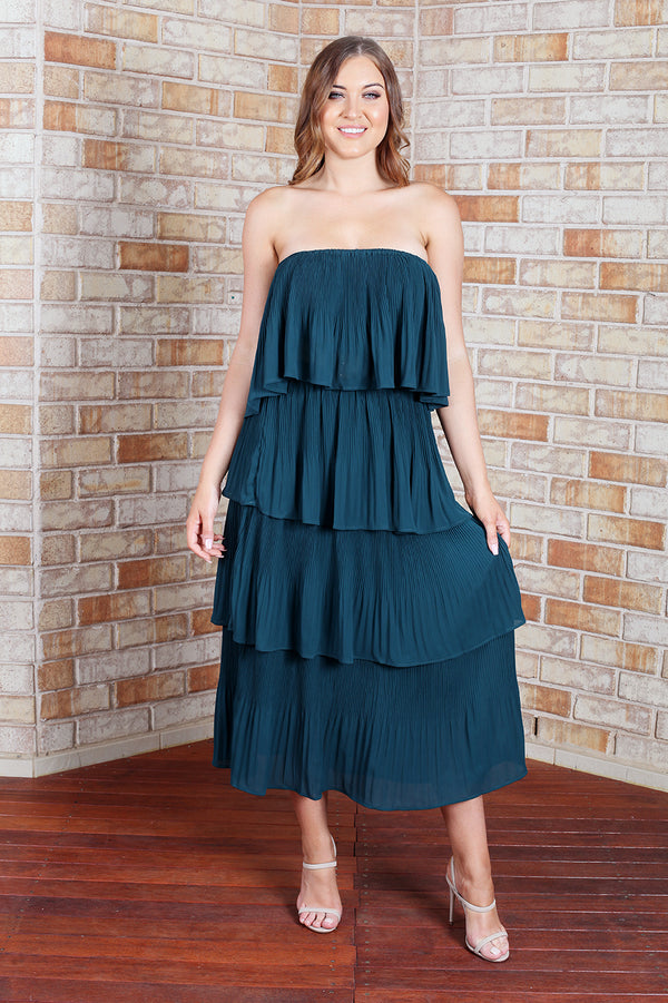 Tango Maxi Dress - Teal