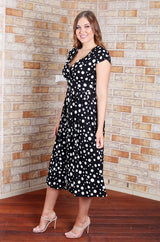 Dominique Dress - Black Spot