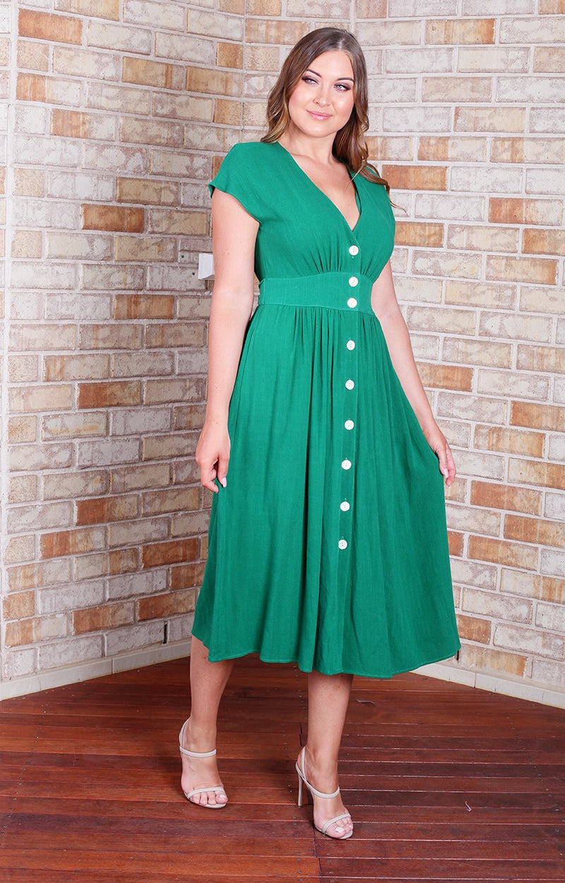 Dominique Dress - Green