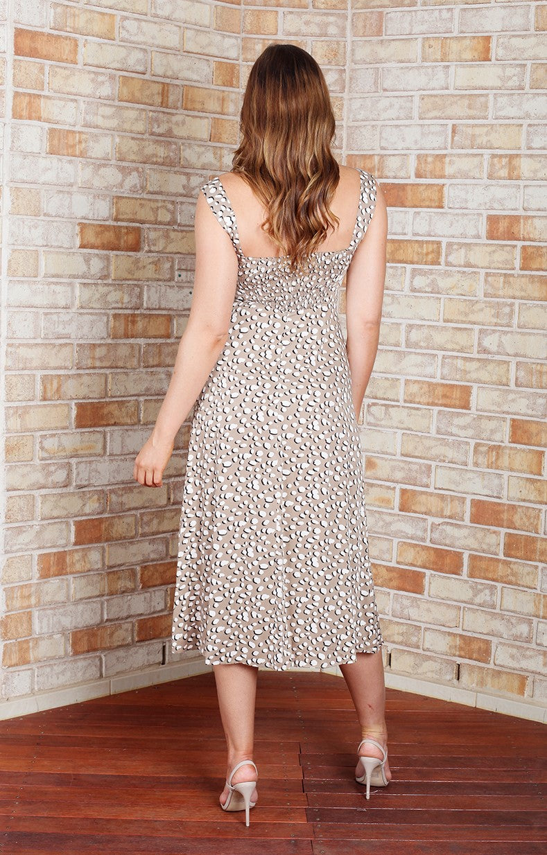 Danella Dress - Mocha Print