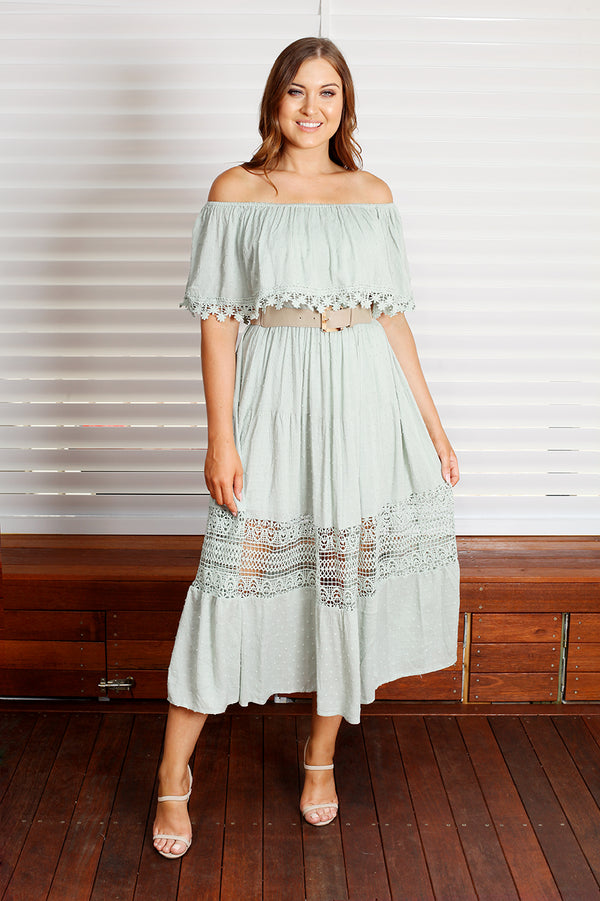 Casey Maxi Dress - Sage Green