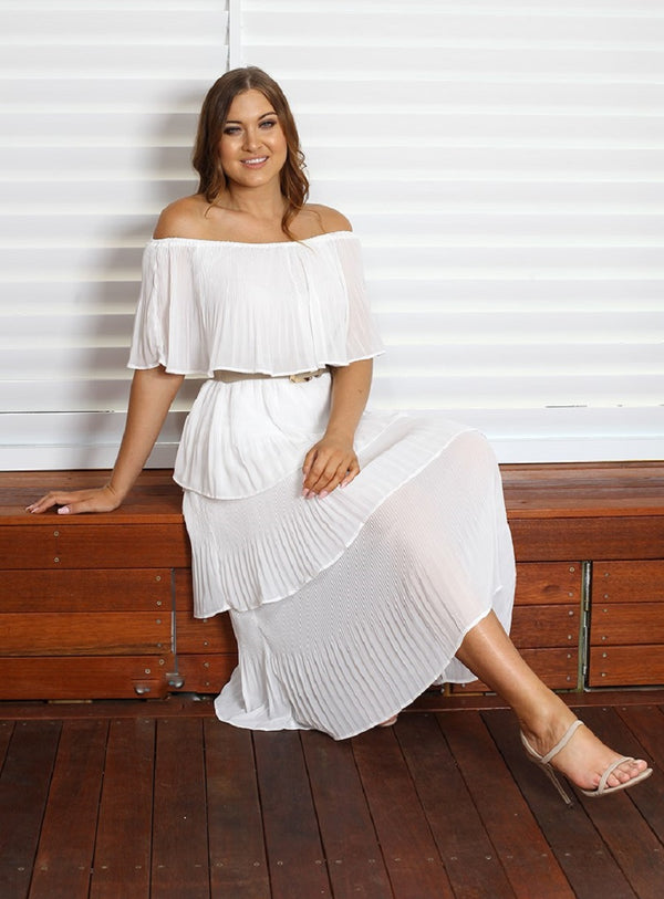 Tango Maxi Dress - White