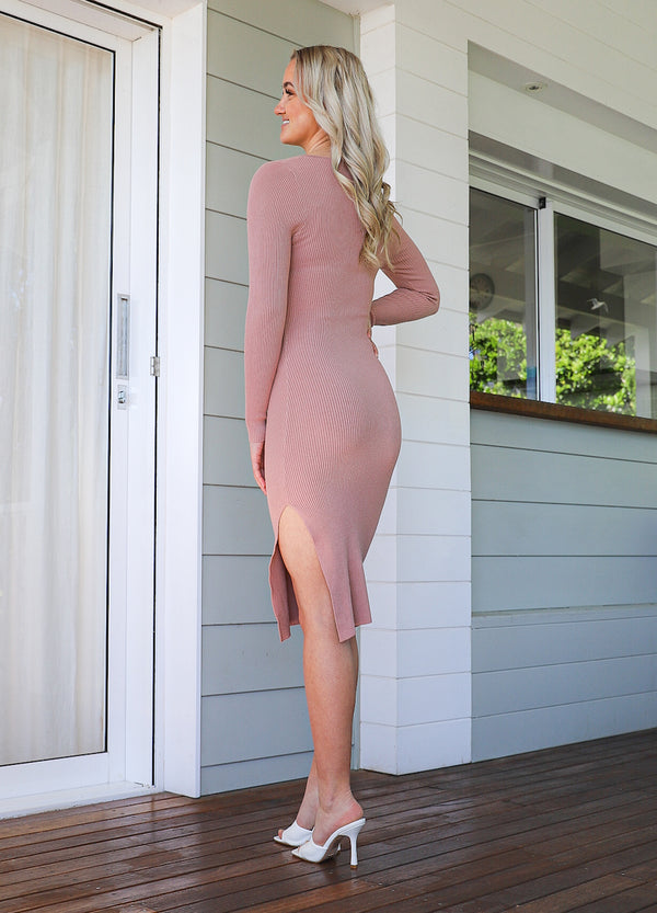 Emmy Knit Dress - Blush