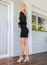 Hunter Mini Dress  -  Black