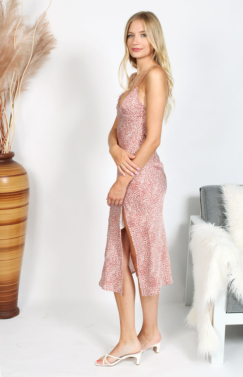 Sunrise Dress - Pink Print