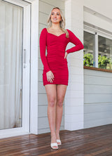 Hunter Mini Dress  - Red