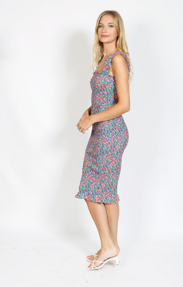 Milan Midi Dress - Multi