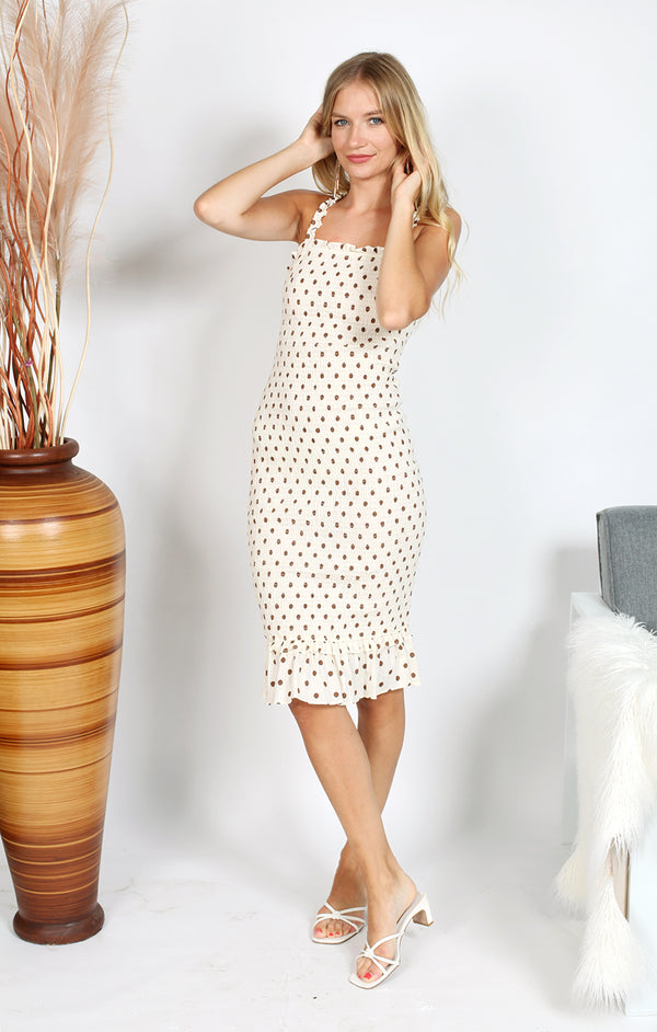 Mikayla Dress - Cream Print