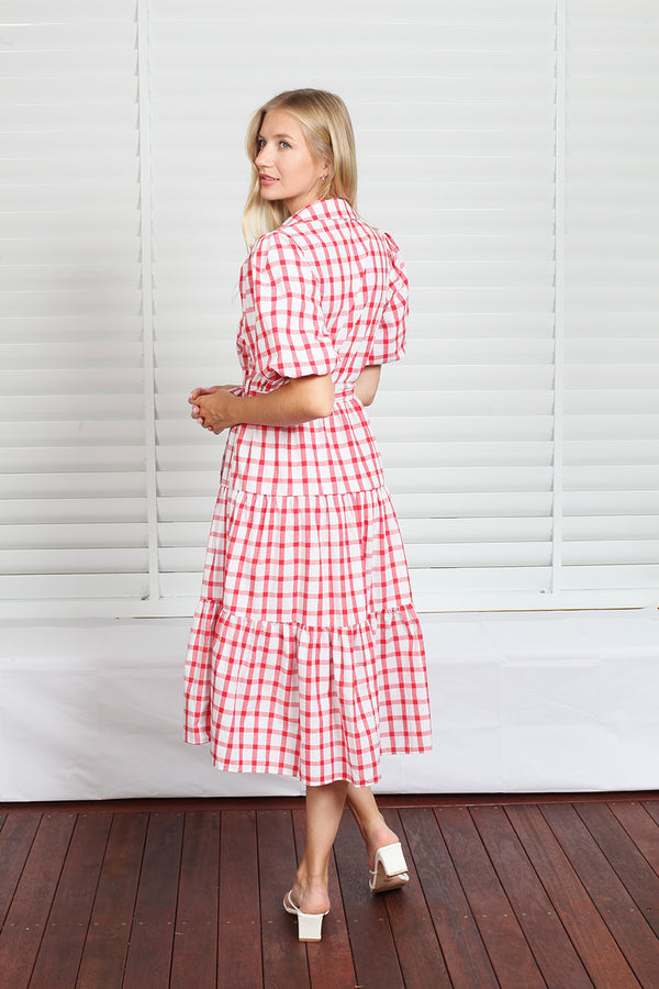 Byron Dress  - Red Check