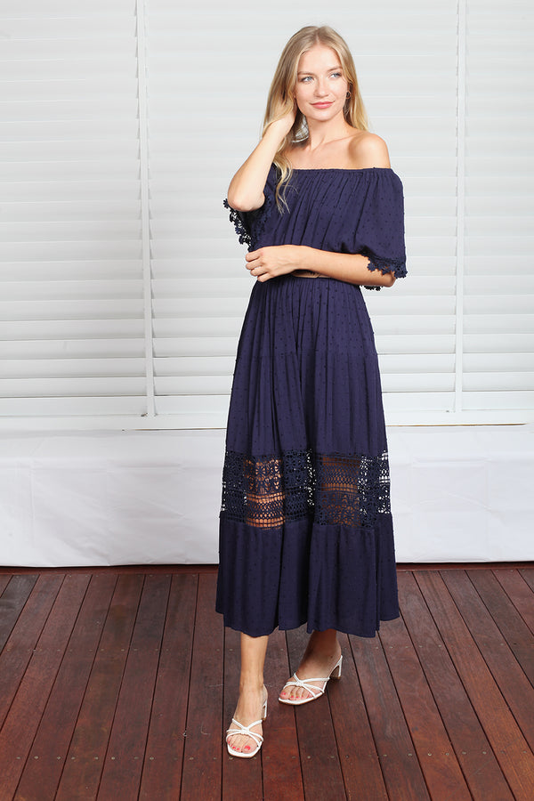 Casey Maxi Dress - Navy