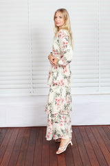 Bridget Maxi Dress - Off White Floral