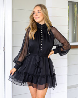 Leslie Mini Dress - Black