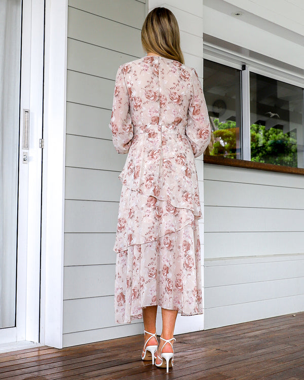 Andriana Dress - Beige Floral