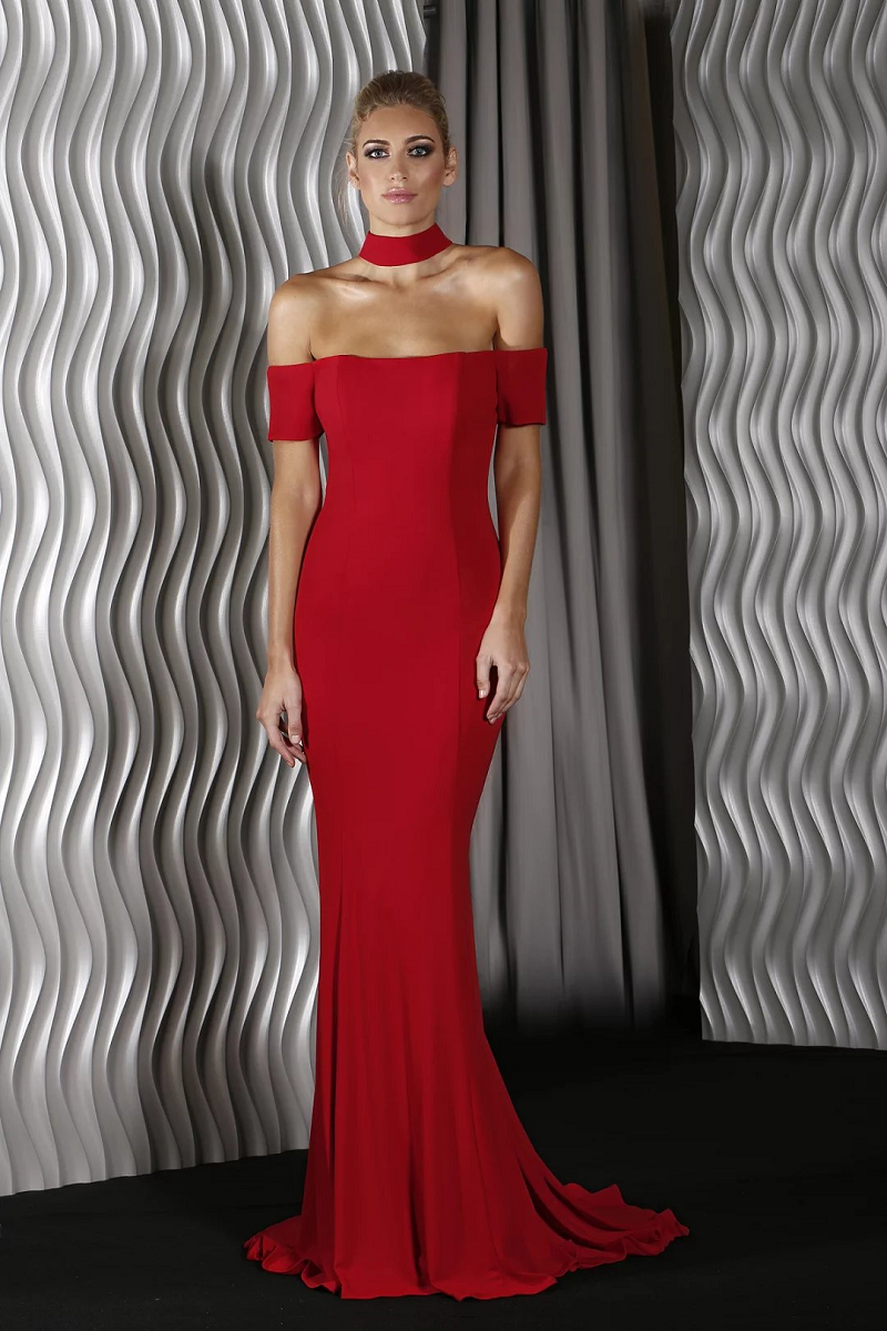 Viola  Gown by Jadore In Red