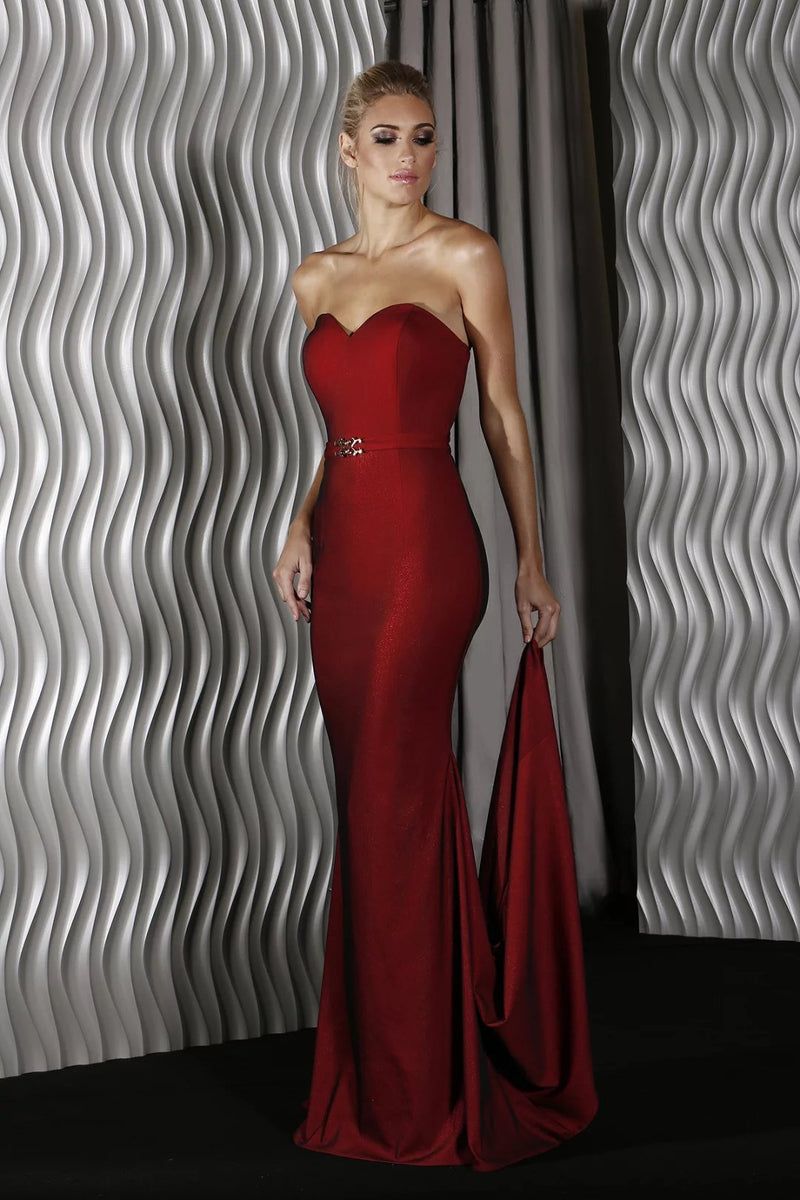 Lea Gown By Jadore In Wine