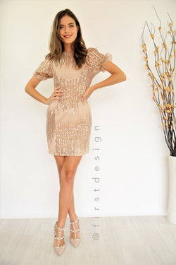 Leannie Dress Rose Gold